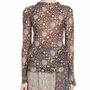 Chloe Blossom Print Viscose Georgette Blouse